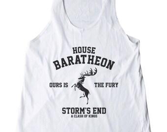 House Baratheon Shirt Ours Is The Fury Shirt Storm shirt Game of Thrones Shirt Girl Gifts Women Shirt Racerback Women Tank Top Ladies Shirt