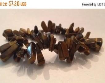 SALE Tiger Eye Jasper Stone Bead Stretch Bracelet Costume Jewelry
