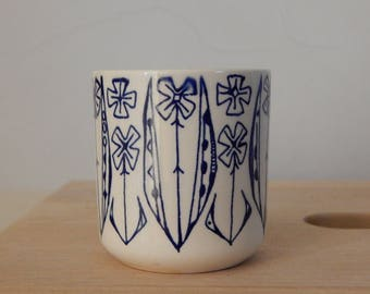 Vintage Stavangerflint Laget for Idun Fabrikker A/S Moss Norway Ceramic Cup  Mid-century modern 1960s, Made in Norway