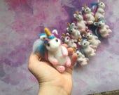 Unicorn ornament felt Unicorn birthday party gifts for guests children christmas gifts needle felted animal unicorn felt toys