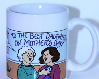 """Vintage Avon """"To The Best Daughter On Mother'S Day"""" Coffee Mug Cup 12 Oz"""