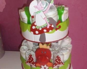 """Enchanted Pixie"" diaper cake"