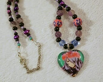 Fire Emblem Camilla Necklace - One of a Kind - Amethyst Necklace