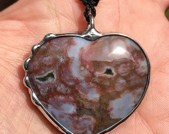 Ocean Jasper ALCHEMY HEART NECKLACE