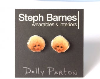 Dolly Parton celebrity stud earrings