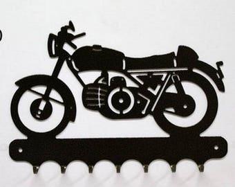 Hangs 26 cm pattern metal keys: motorcycle guzzy Falcone