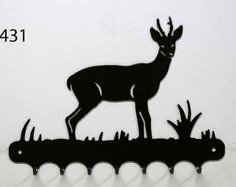 Hangs 26 cm pattern metal keys: deer