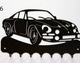 Hangs 26 cm pattern metal keys: Alpine Renault A110 (Berlinetta)