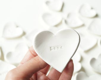20x Cheap Wedding Favors, Guest Favors, White Hearts, Set of 20, Ready to Ship
