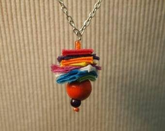Silver and multicolored necklace unique!