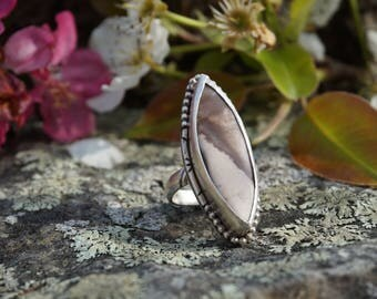 Zebra Jasper Sterling Ring Size US 7