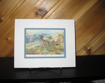 "Charles Russell print ""The Elk"""