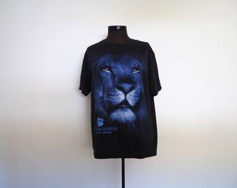 vintage 90's MGM GRAND lion black t-shirt // Las Vegas // hipster grunge