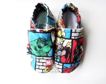 Super Hero Stay-On Shoes/Slippers ~ Size 8 Toddler/Youth ~ READY TO SHIP!