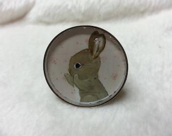 Ring round 25mm cuddly rabbit