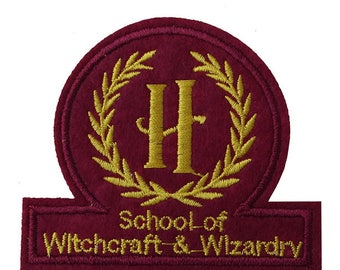 Hogwarts School of witchcraft and wizardry Iron on / sew on Embroidery Patch Badge Embroidered harry potter magic Applique Motif