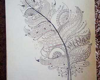 Drawing Of Fantasy Feather