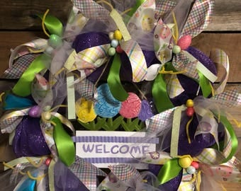 Welcome spring Easter wreath