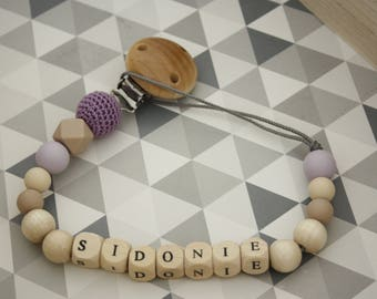 Custom wood and silicone pacifier