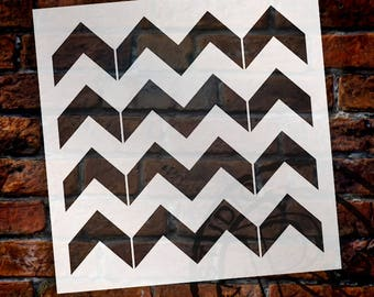 Thick Chevron Pattern Stencil - Select Size - STCL2000 - by StudioR12
