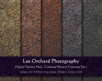 Large 'Metallic' Digital Textures : Coloured Concrete Metallic Effect Background Vol 1 || Digital Paper / Digital Background