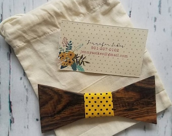 Exotic wooden bowtie -bocote wood