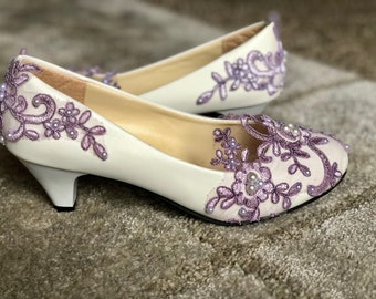 Custome Lace Color Bridal Shoes Wedding Shoes Bride Shoes Pumps