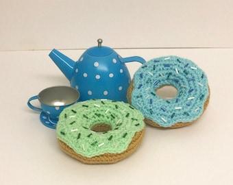 Play Food Crochet Set of 2 Donuts, Gift, Amigurumi