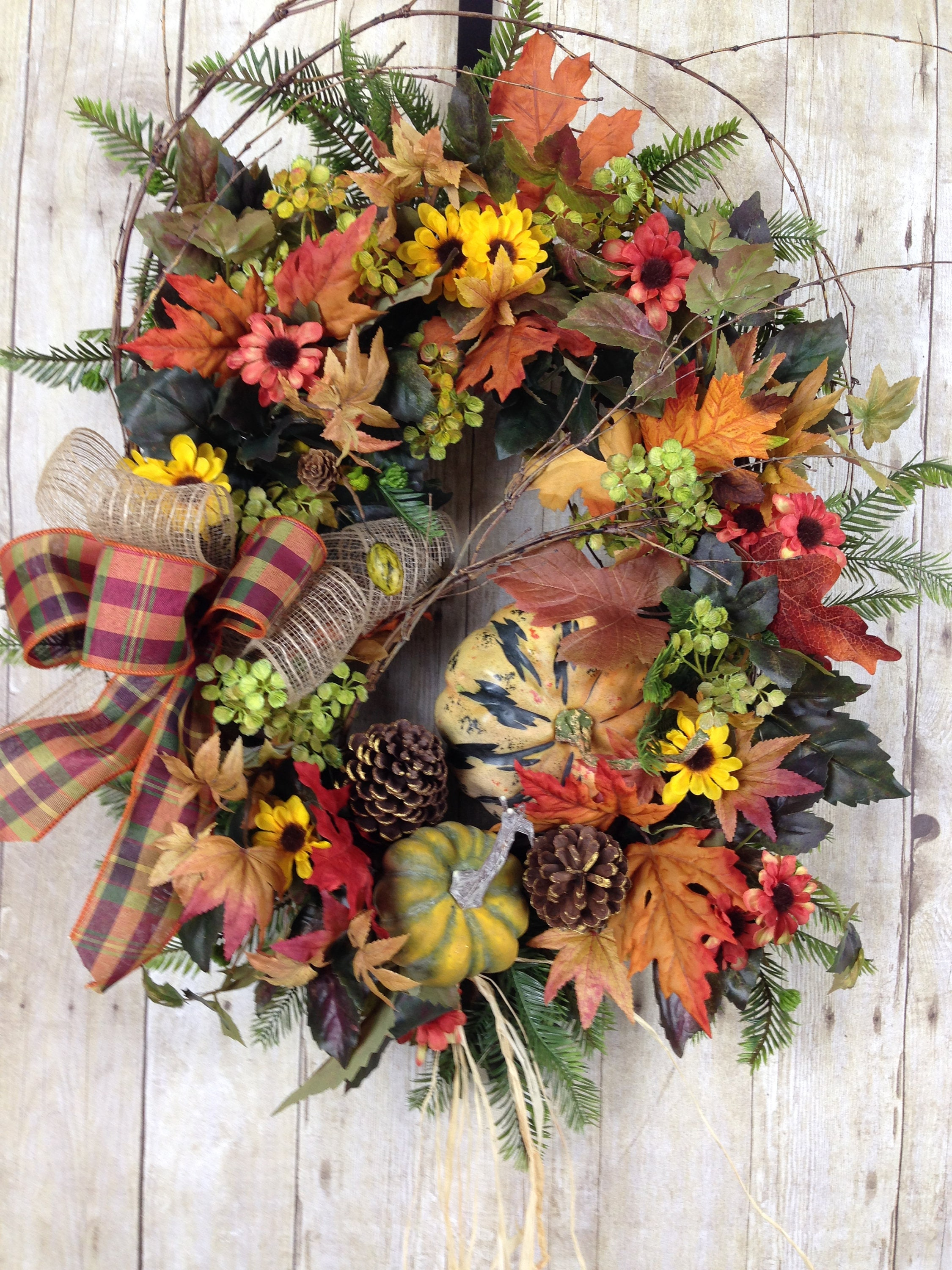 Thanksgiving wreath fall wreath fall wreaths for front door Fall autumn door wreaths