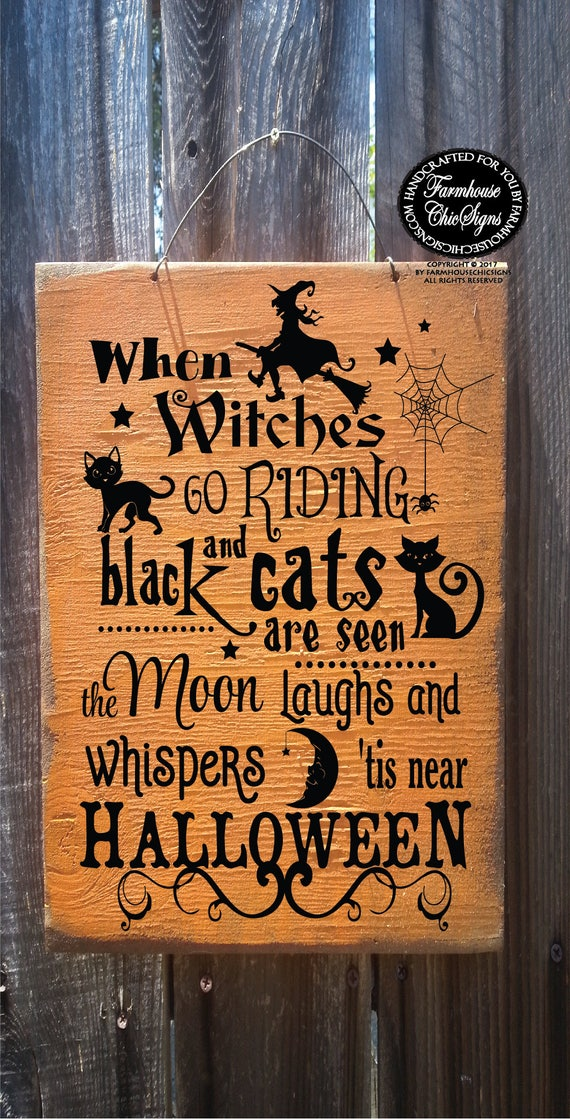 Halloween Witch Poem Sign