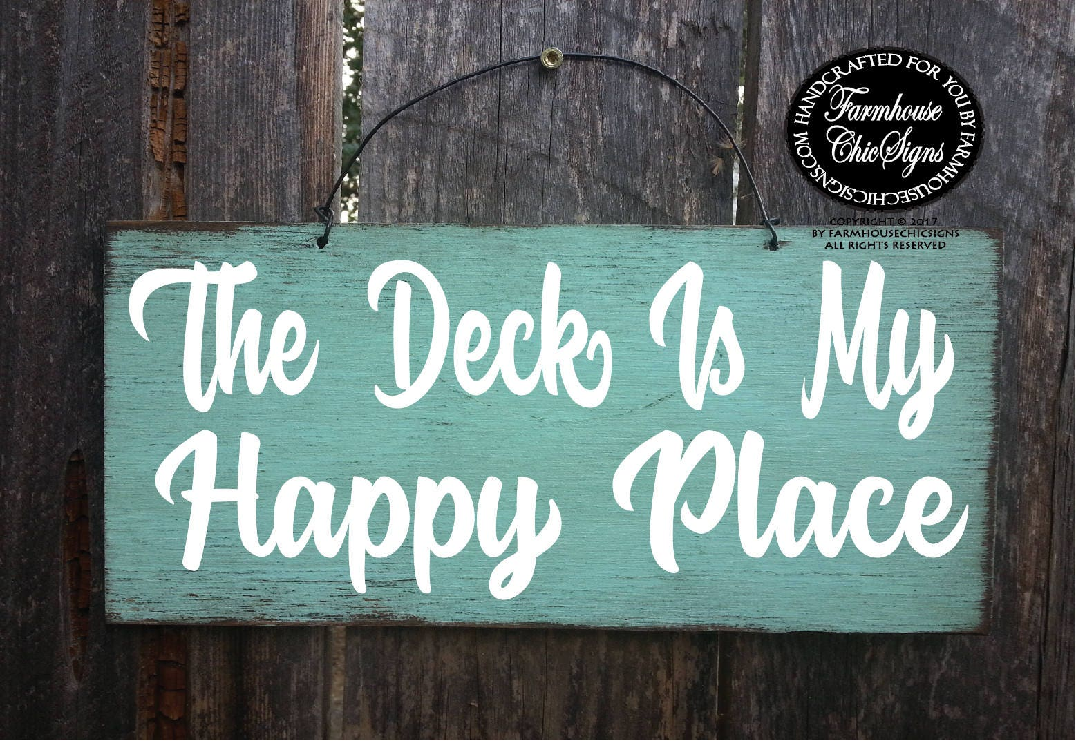 deck deck sign the deck is my happy place happy place deck