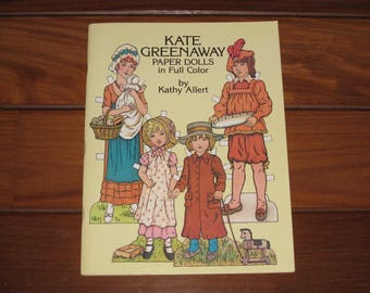 1981 Kate Greenaway Paper Dolls Book by Kathy Allert (Uncut)