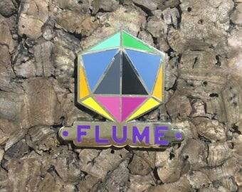 Flume Icosahedron Hat Pin