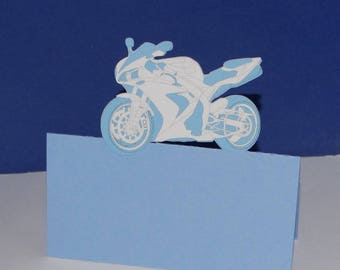 Square blue motorcycle brand