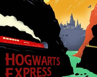 Harry Potter Hogwarts Express Art Poster Print A4