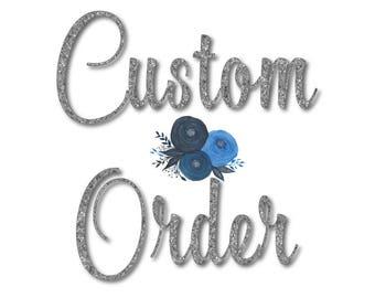 Custom Floral Comb - Custom Wedding Comb - Custom Bridal Comb - Custom Hair Comb - Custom Bride Comb - Custom Flower Comb -Wedding Accessory
