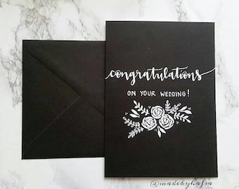 Black & White Series   Congratulations on your wedding!   Wedding Card