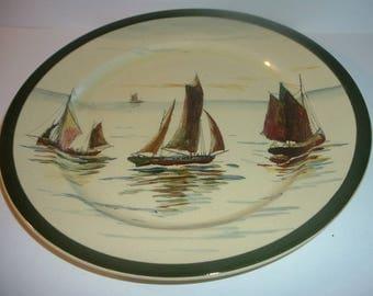 Old Royal Doulton Sailboats plate