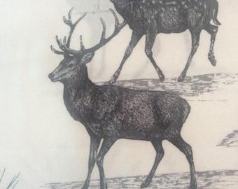 Deer Scene Fabric