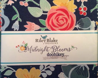 Riley Blake Midnight Blooms Charm Pack