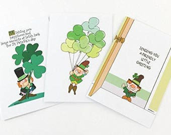 St Patrick's Day Assorted Card Pack - 18 St Patrick's Day Cards & Envelopes - 904