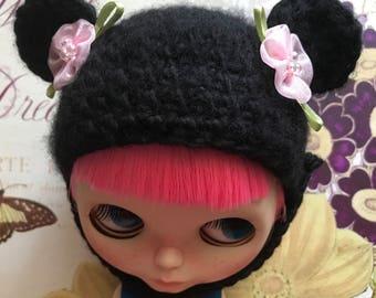 Blythe Bear Hat for Blythe Dolls OOAK