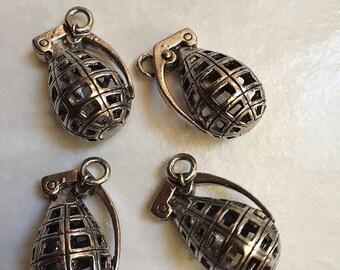 5 pendants Granada silver tone 23 * 37 mm