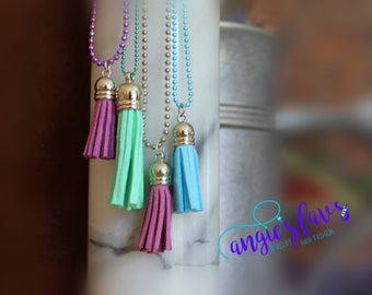 Ball Chain Necklace - Tassels