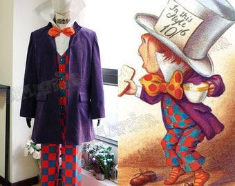 Alice's Adventures in Wonderland Cosplay, Mad Hatter (Novel Illustration) Costume Set