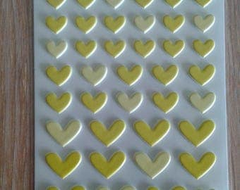 Bella blvd puffy hearts stickers  yellow bell pepper
