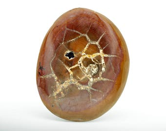 25% off!! Septarian geode stone cabochon - natural untreated gemstone - large pendant stone - gem and mineral - semi precious stone