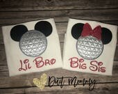 Disney Epcot Family Shirts | Beer & Wine | Name | Big Little Baby | Brother Sister Mom Dad | Embroidered | Vacation | Mickey