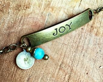 Personalized Joy Bracelet