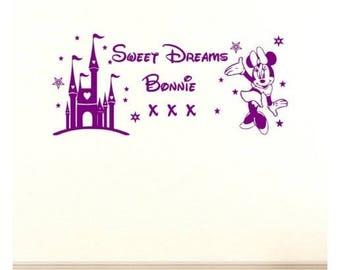 Sweet Dreams Minnie decal